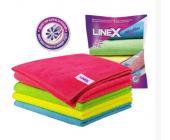 Салфетка из микроволокна Linex ассорти 30х30см, 4 шт/уп | OfficeDom.kz
