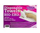 Полотенце одноразовое листовое, BIO-EKO, вискоза 100%, 50х40 см, 100 шт/уп., Beautyfor | OfficeDom.kz