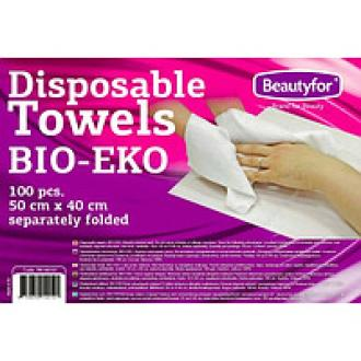 Полотенце одноразовое листовое, BIO-EKO, вискоза 100%, 50х40 см, 100 шт/<wbr>уп., Beautyfor - Officedom (1)