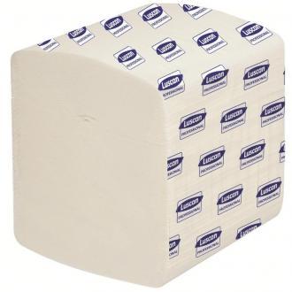 Бумага туалетная листовая V-укладка, 2 слоя, 250 л.,11х22 см, белый, Luscan Professional - Officedom (1)