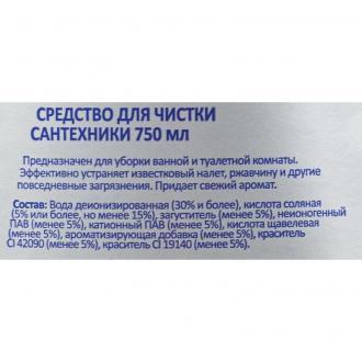 Средство чистящее для сантехники 750 мл, Luscan Economy - Officedom (2)