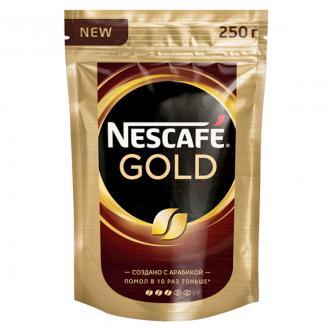 Кофе Nescafe Gold 250 гр, вакуумн.упаковка - Officedom (1)