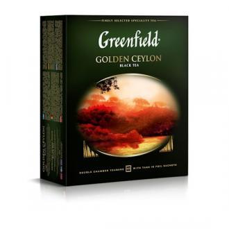 Чай черный Gf Golden Ceylon цейлонский, 100х2г - Officedom (1)