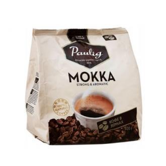 Кофе в зернах Paulig Мокка в пакете, 500гр - Officedom (1)