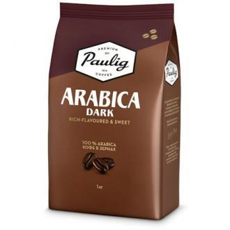 Кофе в зернах Paulig Арабика Дарк в пакете, 1000гр - Officedom (1)