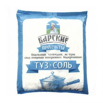 Соль йодированная Барские продукты, пищевая, 1 кг - Officedom (1)