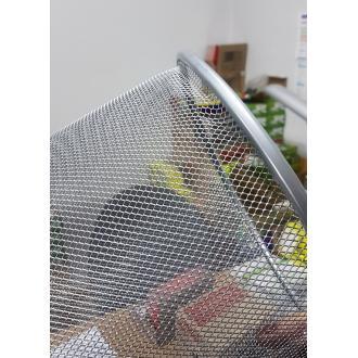 Корзина для мусора метал., 12 л, серебристый (уценка) - Officedom (3)