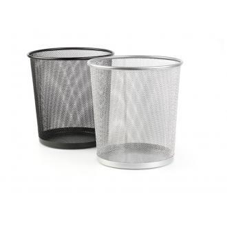 Корзина для мусора метал., 12 л, серебристый (уценка) - Officedom (1)