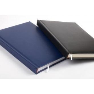 Ежедневник недатированный А5, черный, желтые страницы (уценка) - Officedom (1)