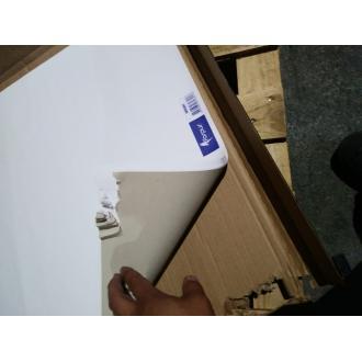 Блок бумаги flipchart, 60х85 см, 50листов, белый (уценка) - Officedom (2)