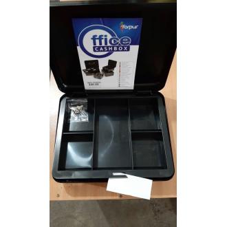 Ящик для денег 320х240х90мм, черный (уценка) - Officedom (1)