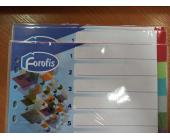 Разделители документов Forofis, А4, Nr. 1-12, ПП, 0,13 мм, цветные (уценка) | OfficeDom.kz