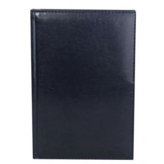 Ежедневник полудатированный, А5, кожзам., в линейку, черный (уценка) - Officedom (1)