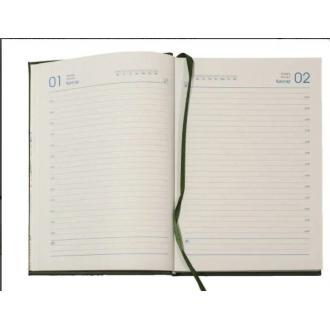 Ежедневник полудатированный, А5, кожзам., в линейку, черный (уценка) - Officedom (2)