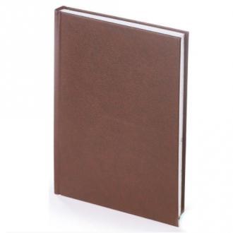 Ежедневник полудатированный, А5, кожзам., в линейку, коричневый (уценка) - Officedom (1)