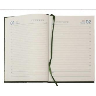 Ежедневник полудатированный, А5, кожзам., в линейку, коричневый (уценка) - Officedom (2)