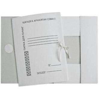 Папка с завязками картонная, мелованная - Officedom (1)