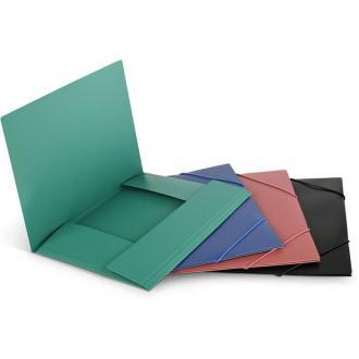 Папка для бумаг с резинками ECO А4, синий - Officedom (1)