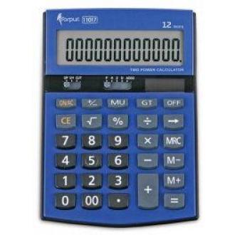 Калькулятор 12 разр., 151,5х107х29мм., двойн. питание, синий экран - Officedom (1)