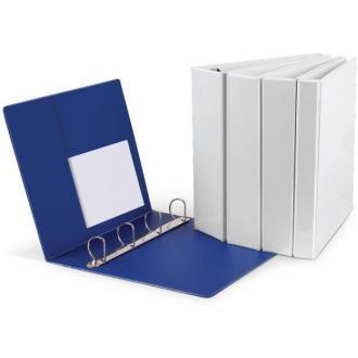 Папка презентационная А4 с 4-D метал.кольцами, 50 мм, ширина 80 мм, белый - Officedom (1)