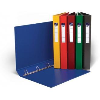Папка с 4-мя кольцами D-25мм, А4, ширина 35мм, темно-синий - Officedom (1)