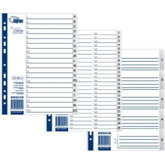 Разделители документов РР А4, 1-5, серый - Officedom (1)