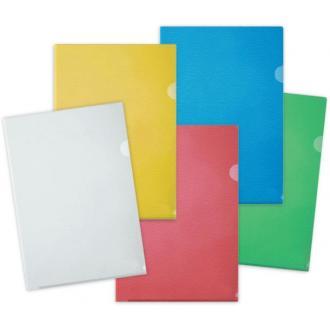 Папка-уголок А4 100мк, синий - Officedom (1)