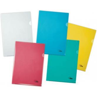 Папка-уголок А4 180мк, желтый - Officedom (1)