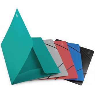 Папка для бумаг с резинками РР А4, серый - Officedom (1)