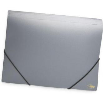 Папка для бумаг с резинками РР А4, серебро - Officedom (1)