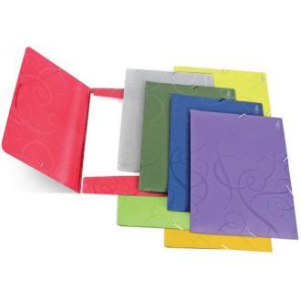 Папка для бумаг с резинками РР А4, Barocco, серый - Officedom (1)