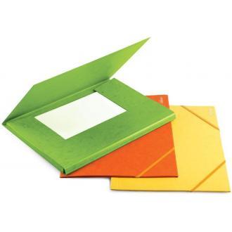 Папка д/<wbr>бумаг А4 на резинке карт. 300г/<wbr>м2, оранжевый - Officedom (1)