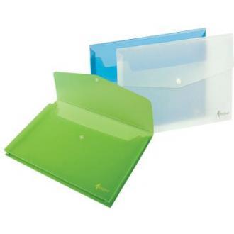 Папка-конверт на кнопке А4, 1-150л., зеленый - Officedom (1)