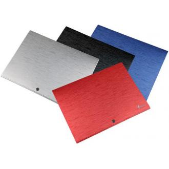 Папка-конверт на кнопке А4, DUNE, 0,5 мм, красный - Officedom (1)