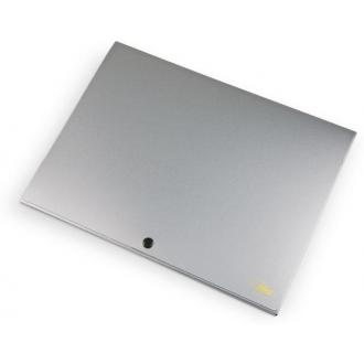 Папка-конверт на кнопке А4, SILVER, 1-150л., серебро - Officedom (1)