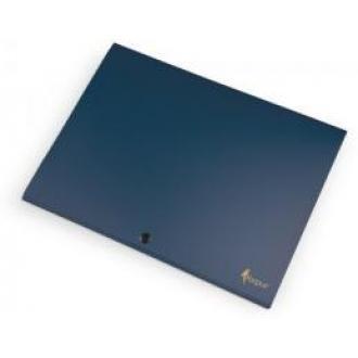 Папка-конверт на кнопке А4, SILVER, 1-150л., синий - Officedom (1)