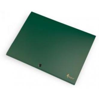 Папка-конверт на кнопке А4, SILVER, 1-150л., зеленый - Officedom (1)
