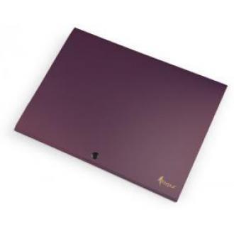 Папка-конверт на кнопке А4, SILVER, 1-150л., фиолетовый - Officedom (1)