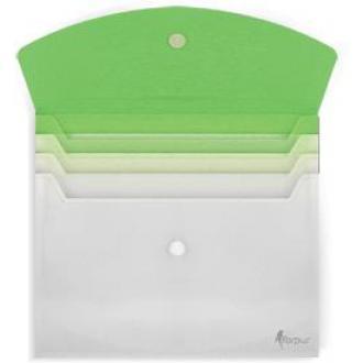 Папка-конверт на липучке, А4, с расширением, зеленый - Officedom (1)