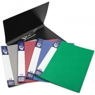 Папка для бумаг с прижимом РР А4, серый - Officedom (1)
