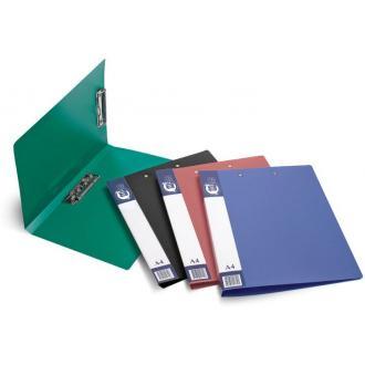 Папка для бумаг с 2-мя прижимами РР А4, черный - Officedom (1)
