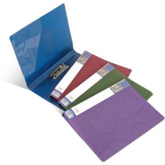 Папка для бумаг с прижимом BAROCCO РР А4, 600мк, синий - Officedom (1)