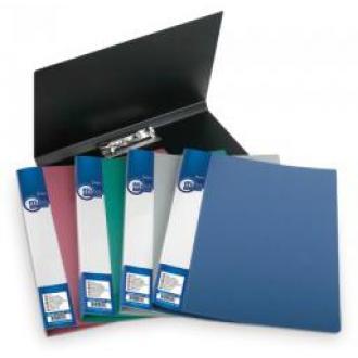 Папка для бумаг с прижимом РР, А4, 0,5 мм, серый - Officedom (1)