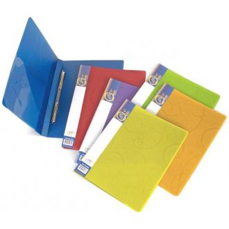Папка для бумаг с пружинами РР А4, Barocco, лимон - Officedom (1)