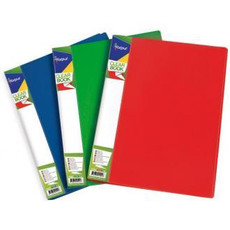 Папка с 20 карманами А4, красный - Officedom (1)