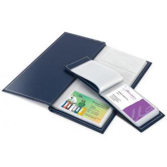 Визитница на 112 визиток,115х254мм, синий - Officedom (1)