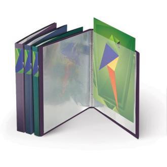 Папка с 20 карманами А4, METALLIC, 0,75мм, синий металлик - Officedom (1)