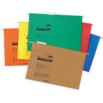 Папка подвесная для бумаг А4, желтый - Officedom (1)