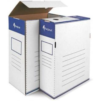 Коробка для документов А4, гофрокартон, 80мм - Officedom (1)
