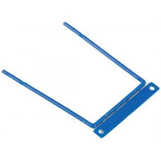 Зажим для документов пластиковый на металлической основе, 100 шт/<wbr>уп - Officedom (1)